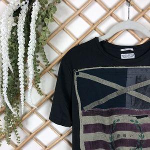 All Saints Vintage Flag Crest Graphic T Shirt